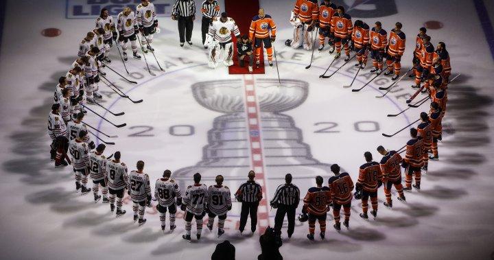 Regina's Matt Dumba becomes 1st NHL player to take a knee during anthem