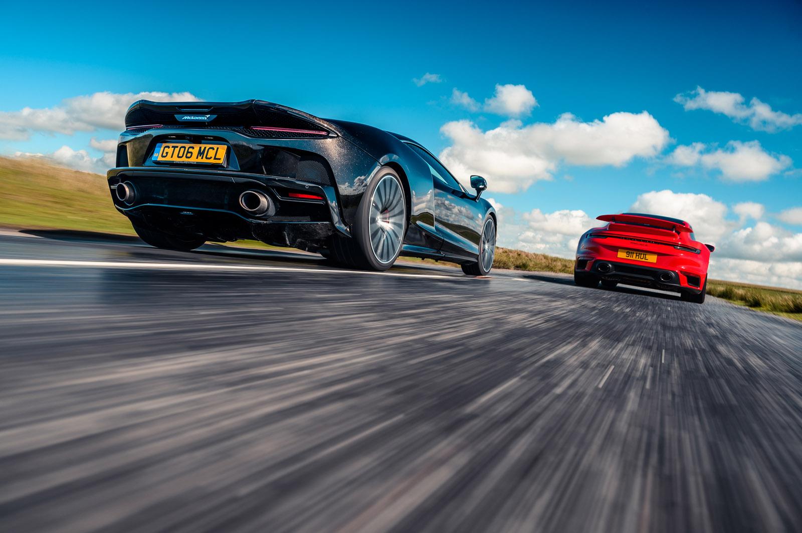 Tour de drive: New Porsche 911 Turbo S vs McLaren GT