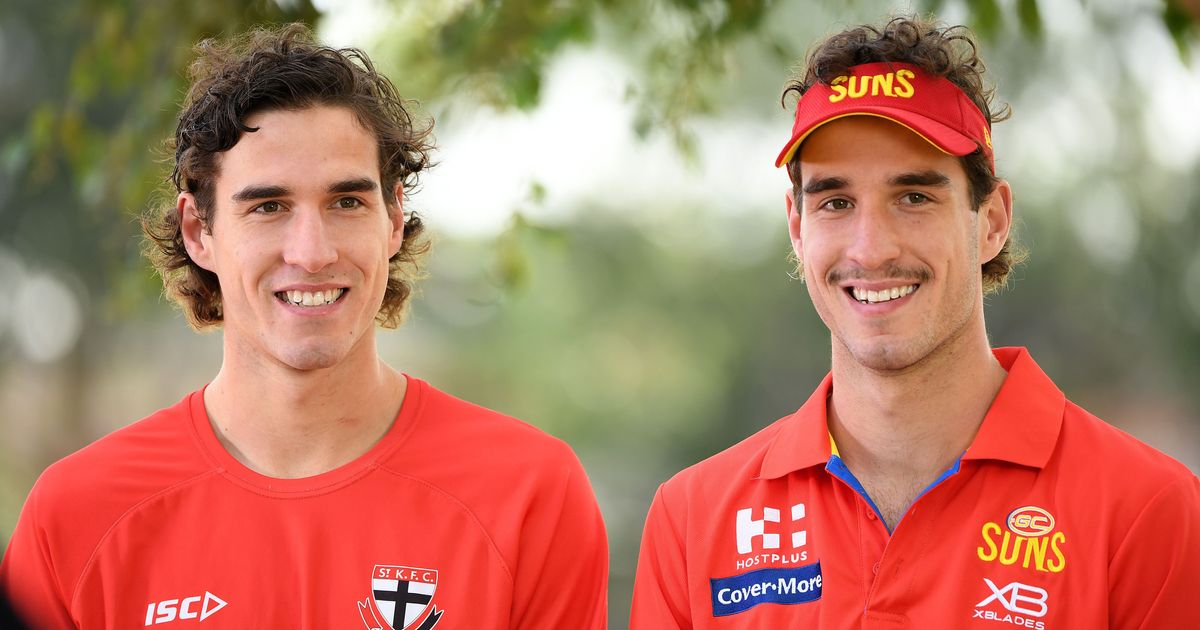 Twins Max and Ben prepare for 'pretty weird' first clash