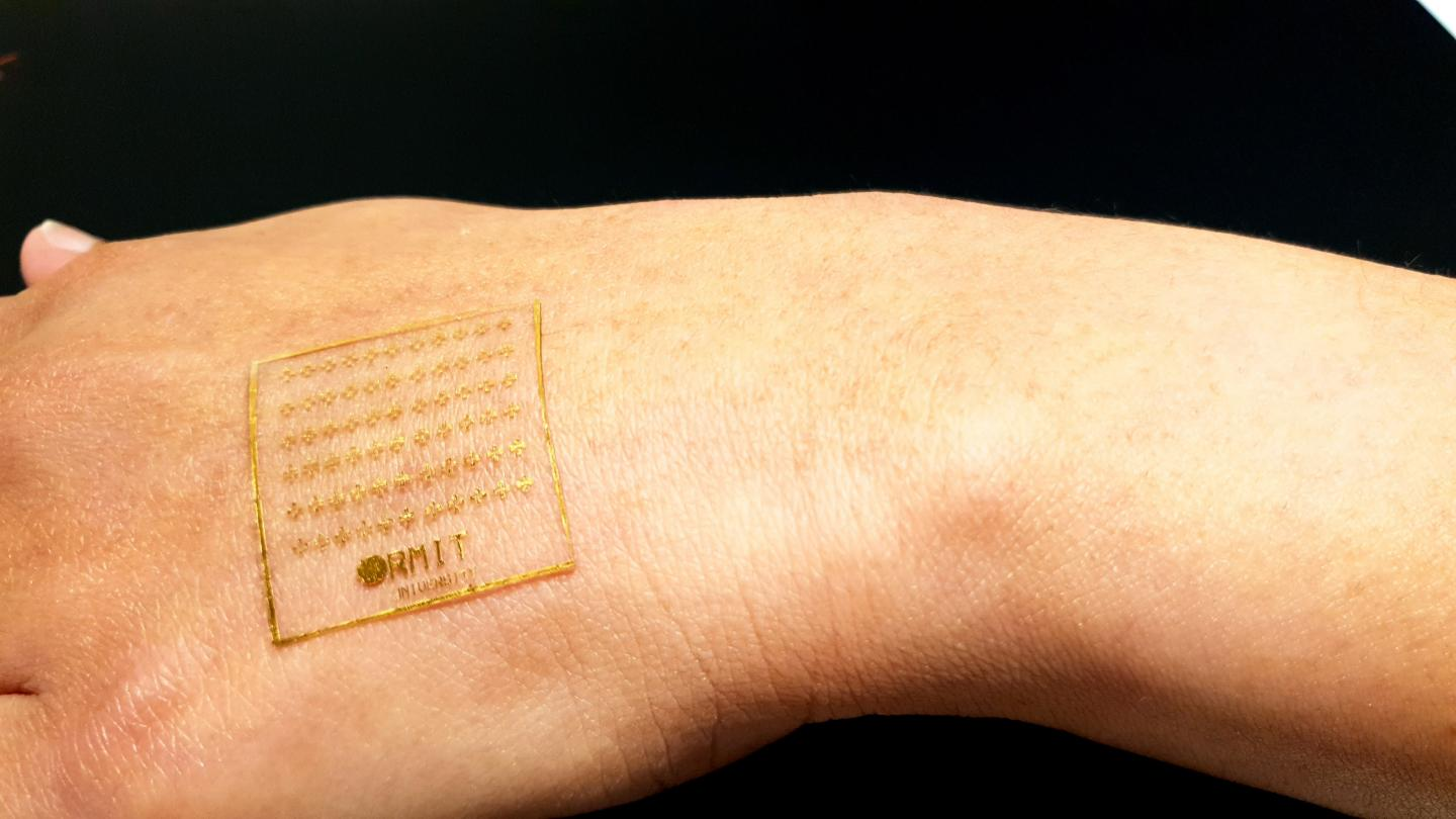 The new electronic skin can react to pain like human skin