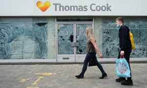 Emty Thomas Cook store in Middlesbrough