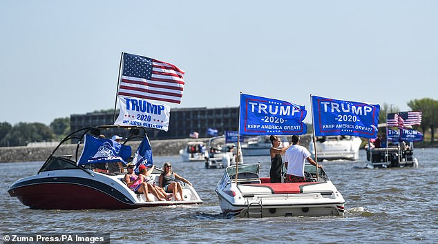 Iowa: The Trump Boat Parade was also held on the Mississippi River near Bettendorf, Iowa on Saturday