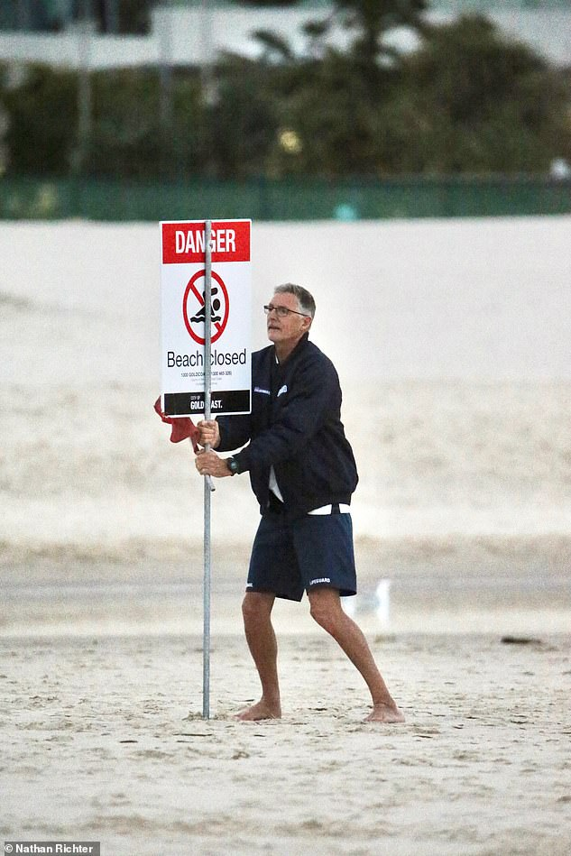 Greenmount Beach was closed Wednesday morning after a surfer was exposed by a shark on Tuesday