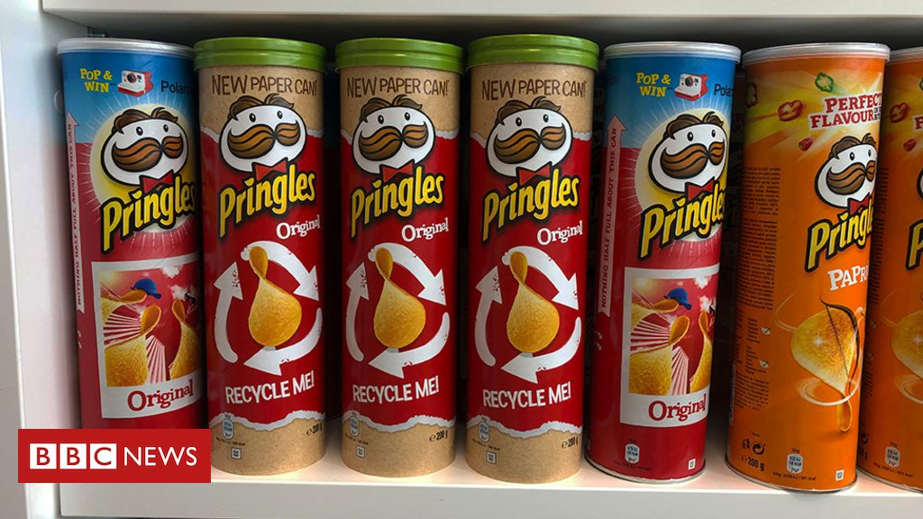 """Pringles tube trying to wake up from a """"recycling nightmare"""""""