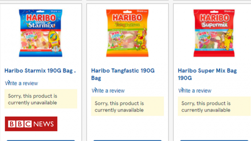Haribo shares fell in Tesco due to the row over price cuts