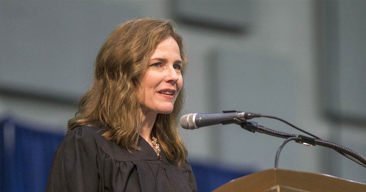 Amy Connie Barrett emerged as the first candidate for the Ginsburg Supreme Court seat