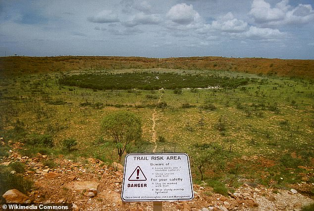 However, the Or Banda crater is five times larger than the famous Wolfe Creek Crater in Australia located in the north of the state.  Wolf Creek formed from a meteor that is estimated to have collided with Earth 300,000 years ago