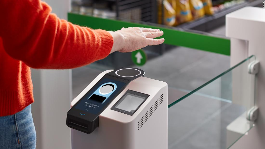 Amazon wants you to pay with your hand