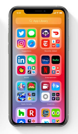 """iOS14 creates """"Application libraries"""" From similar applications"""