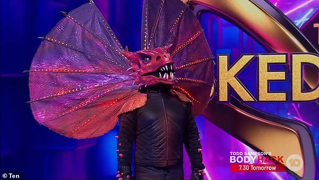 Frillneck was finally revealed to the Masked singer during the conclusion of the show