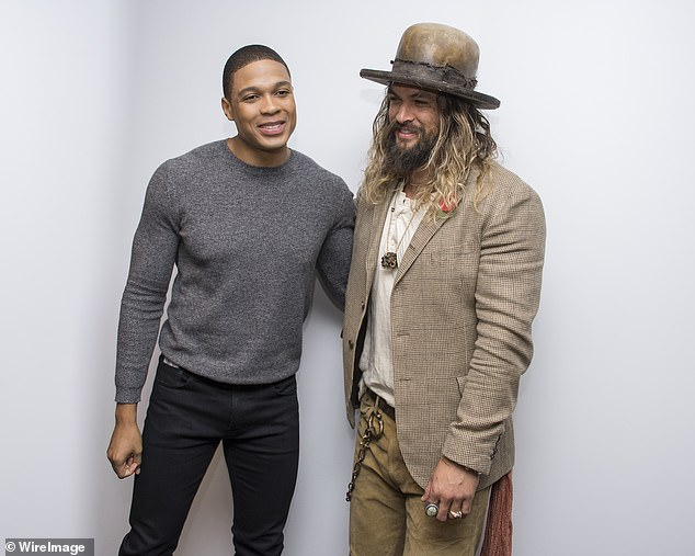 Standing Together: Justice League star Jason Momoa (right) explains that he's proudly standing next to Ray Fisher (L) after he made serious allegations about abuse in Justice League from director Joss Whedon