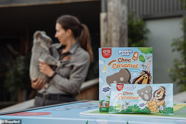 Streets has launched a new line of Paddle Pops shaped like koalas flavored with chocolate and caramel