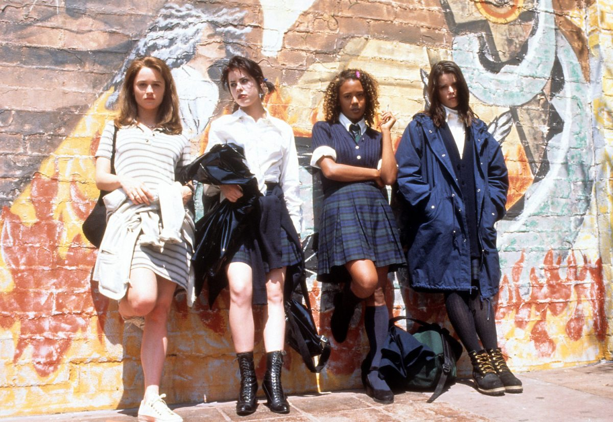 Robin Tony, Feroza Black, Rachel True and Nev Campbell in a scene from The Craft,