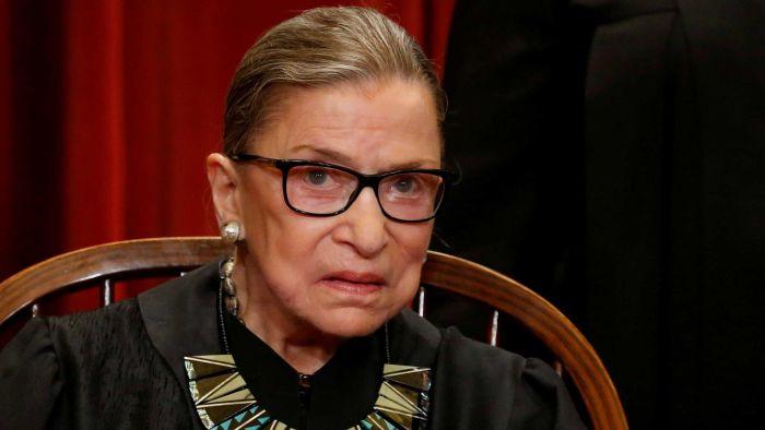 Ruth Bader Ginsburg, US Supreme Court judge, aged 87