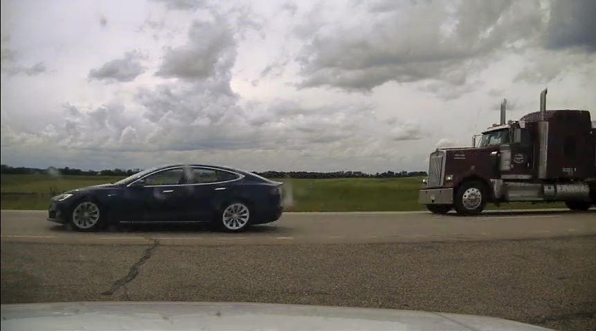 RCMP charge Tesla driver for speeding and sleeping behind the wheel