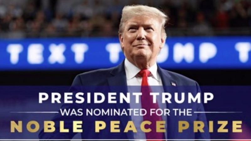 Trump campaign misspells the Nobel Peace Prize in a fundraising ad