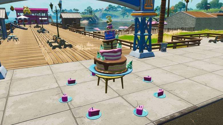 Where to dance in front of birthday cakes in Fortnite
