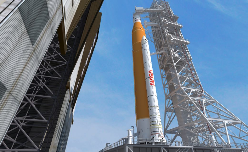 NASA decorates its Artemis Moon rocket with a vintage worm logo after SpaceX's maiden flight