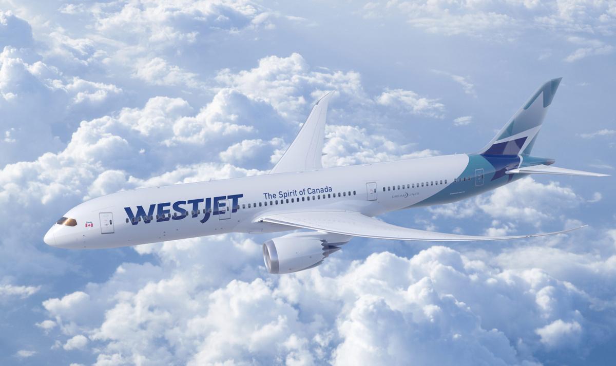 A Boeing 787 Dreamliner from WestJet bound for Vancouver
