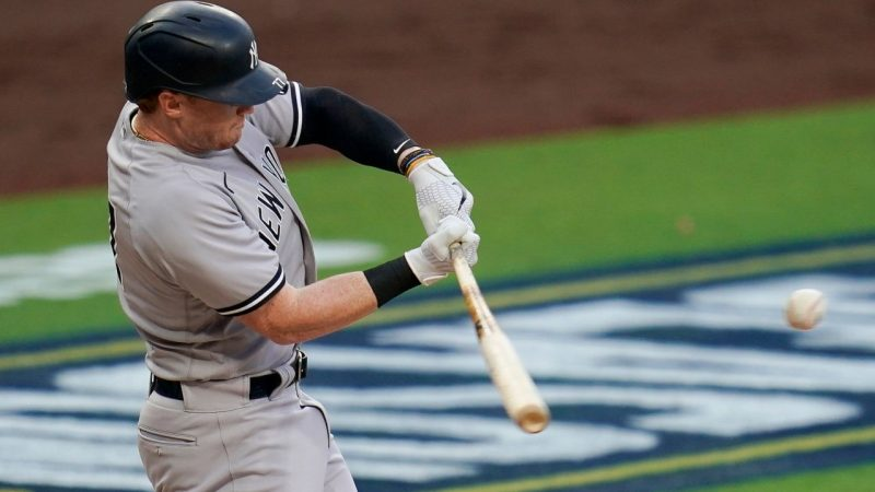 The Yankees' Clint Frazier in their first encounter after Aaron Boone gave him a head start over Brett Gardner in Game 1