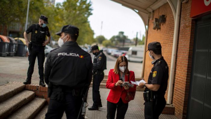 Spain declares a state of emergency to force opposition officials in Madrid to reinstate restrictions amid the second wave of COVID-19