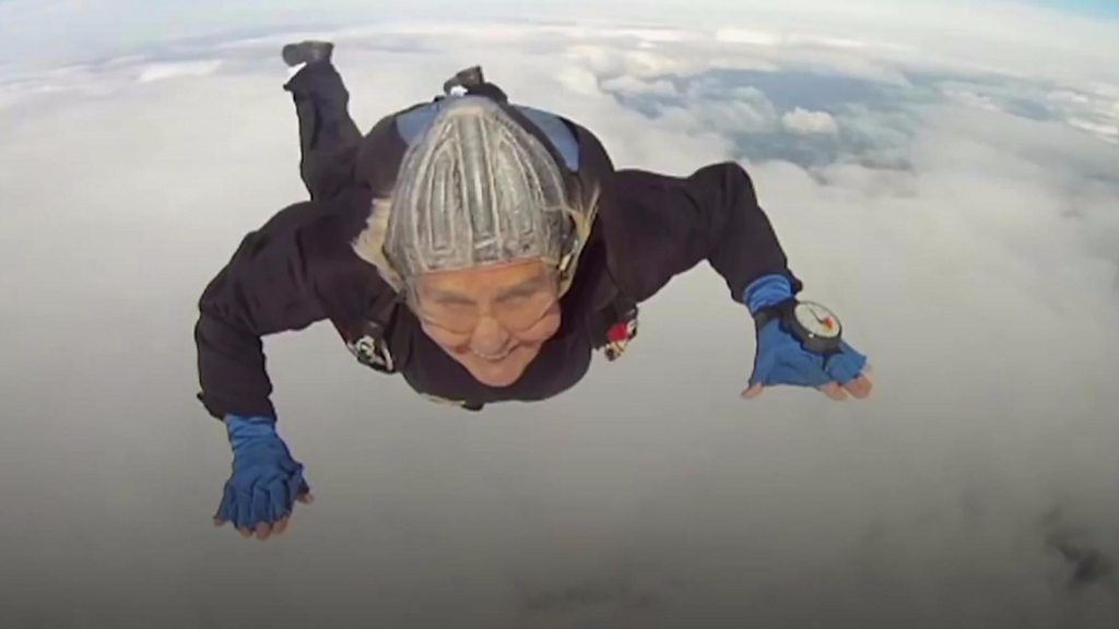 Dilys Price: The world's oldest parachutists are dying out