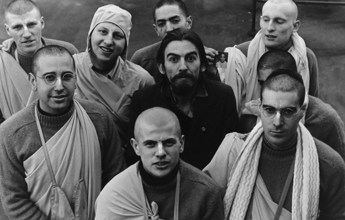 George Harrison with Harry Krishnas