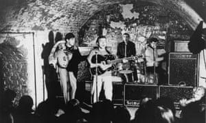 Jerry and the pacemaker are playing at Club Cavern.  The Beatles and the ensuing business made the city famous all over the world.
