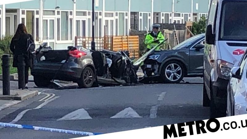 """Policeman cut off from a car accident"" while arresting a man for attempted murder"