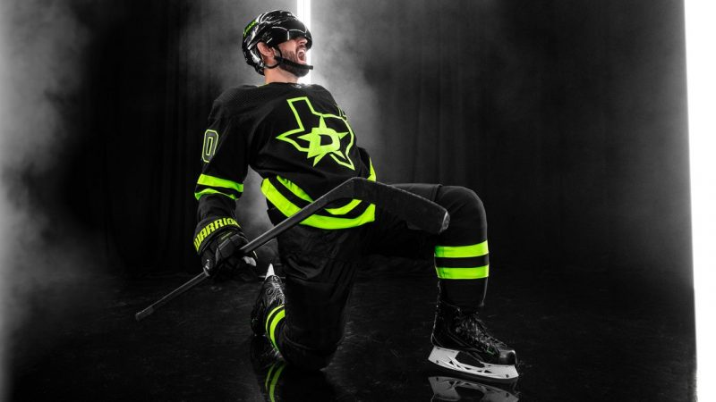 Dallas Stars unveils a new replacement shirt in black and neon green