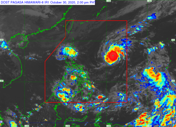"Quezon County is under ""red alert"" due to ""Rolley"""