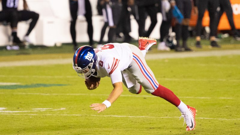 Daniel Jones' Travels and Falls.  This is how the giants do.