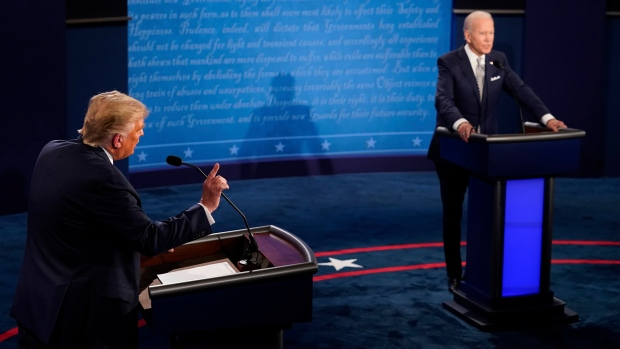 Donald Trump and Joe Biden voted in the final US election debate during their opponent's initial responses