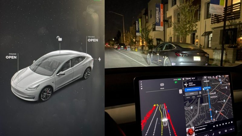 First look at Tesla's new user interface and driving visualizations for FSD beta in action