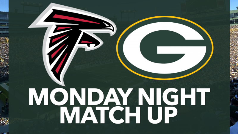 Green Bay Packers takes first place, and Falcons 20-9 leads in third