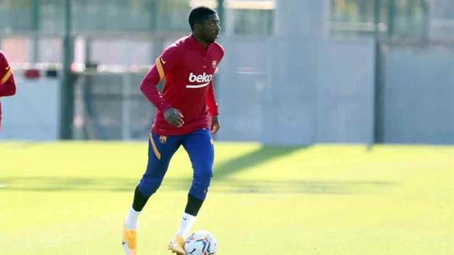 Koeman was impressed by Osman Dembele training in Barcelona