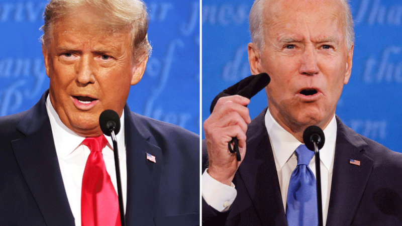 The live broadcast of the US Presidential Debate 2020: A clash between Trump and Biden over the Corona virus as the confrontation begins