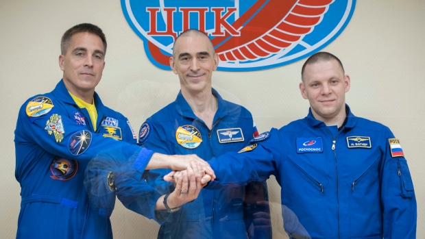 The trio who lived on the space station returns to Earth safely
