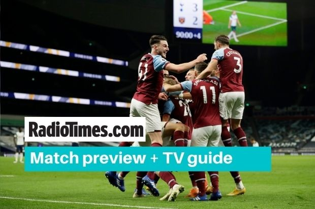 What TV channel is West Ham showing against Manchester City? Start time and live broadcast