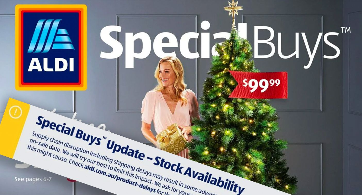 Aldi Christmas decorations as advertised in their catalogue.