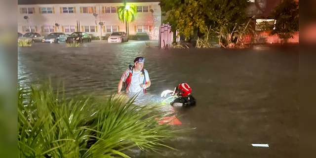 A man was in critical condition after driving a canal in Lauderhill, Florida, Sunday, November 8, 2020.