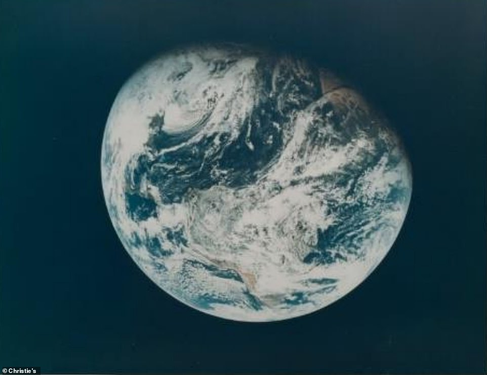 The first human photograph of planet Earth, December 21-27, 1968