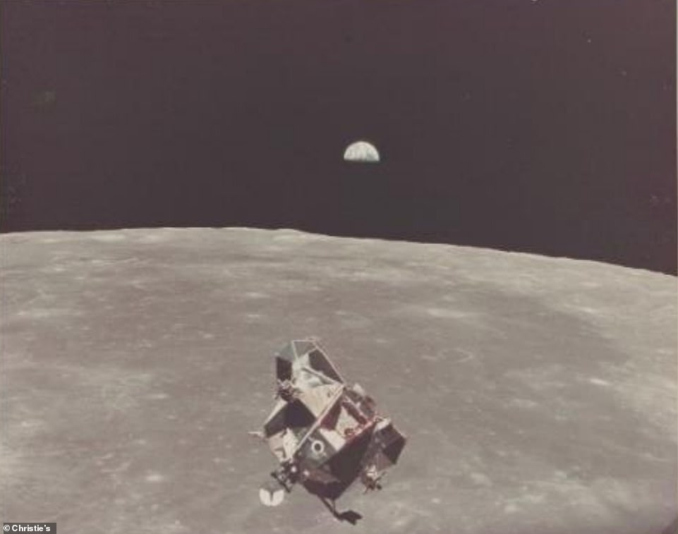 LM Eagle and EarthRise, July 16-24, 1969