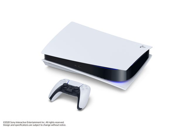 PlayStation 5 with DualSense controller.