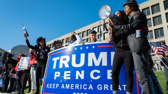MAGA protesters from across the United States maintain their confidence in Donald Trump on the Washington rally