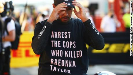 Lewis Hamilton & # 39;  Won't stop & # 39;  His fight against racism as the FIA rules out investigation of Briona Taylor's shirt