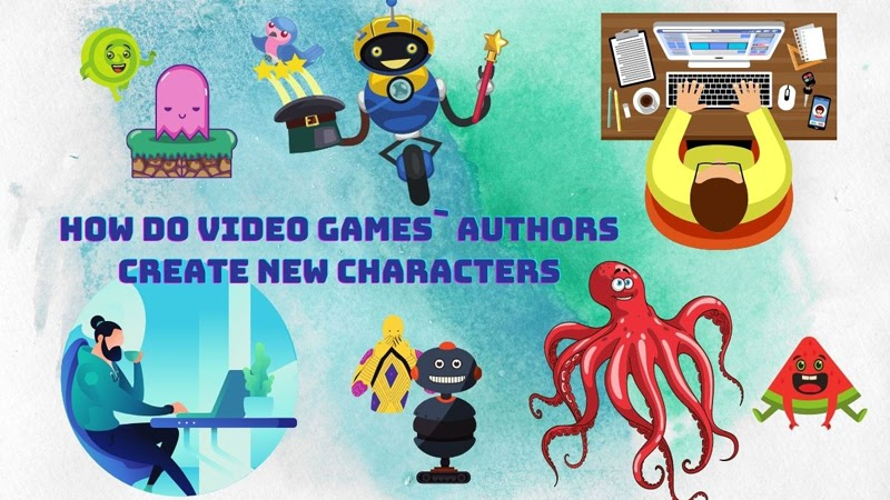 How video game authors create new characters