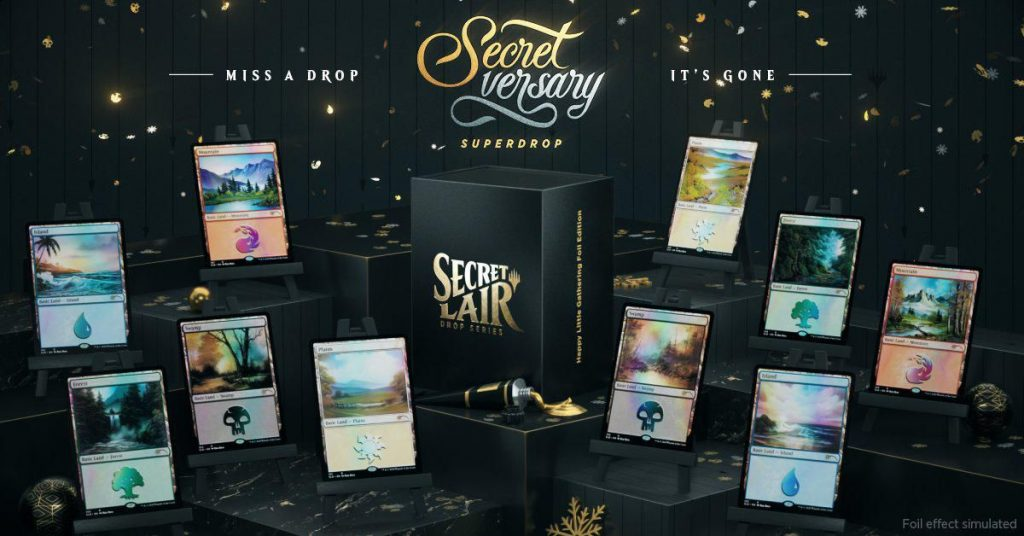 This next 'Magic The Gathering' secret lair collection features Bob Ross art