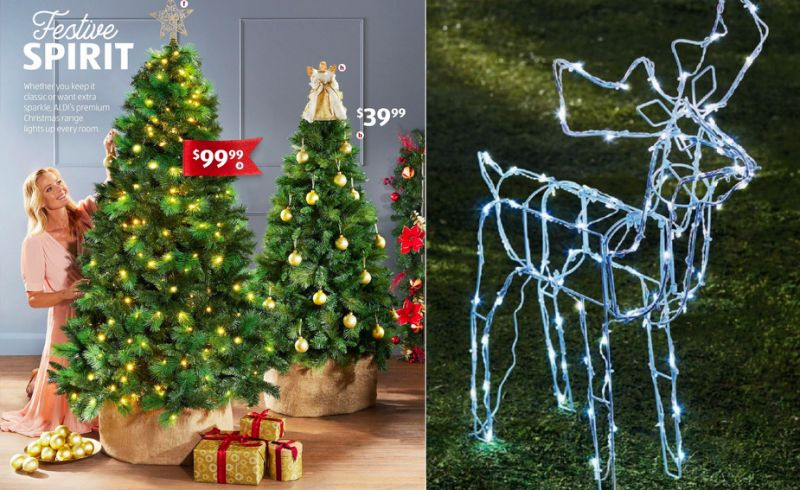 Aldi Christmas Decorations as advertised in their catalog.