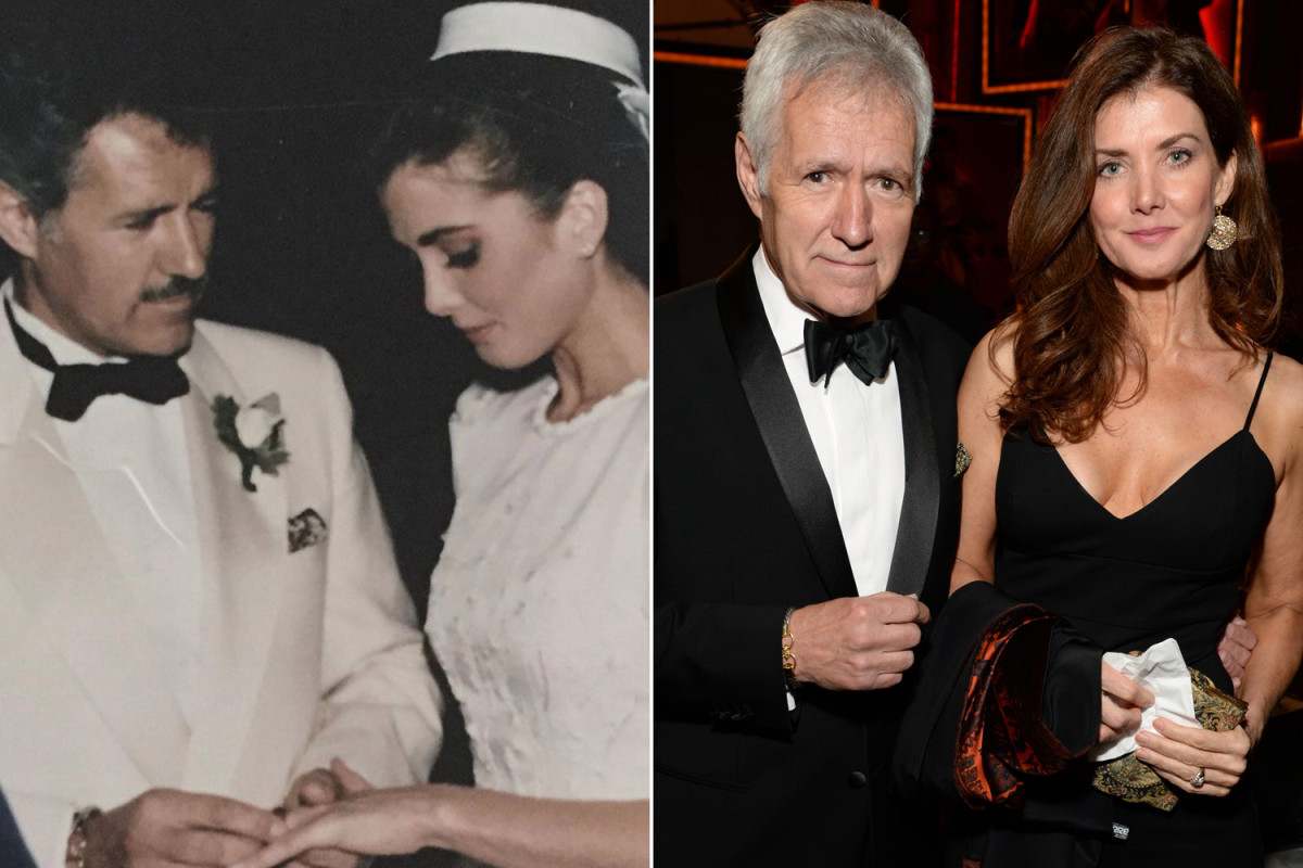 Alex Trebek's wife posts a wedding photo, thanking the fans for their support